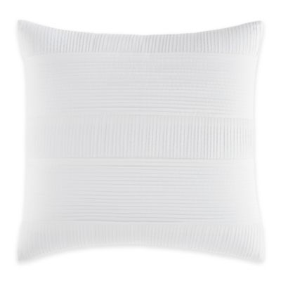 Nautica® Long Bay Pleated Square Throw Pillow in White