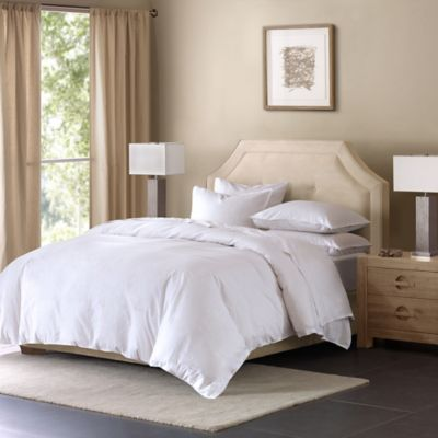 Madison Park Cotton Linen Blend King Duvet Cover Mini Set in Taupe