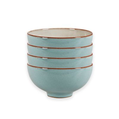 Denby Pavilion Rice Bowls in Blue (Set of 4)