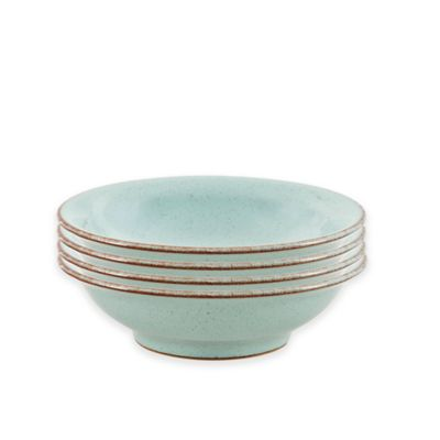 Denby Pavilion Shallow Bowls in Blue (Set of 4)