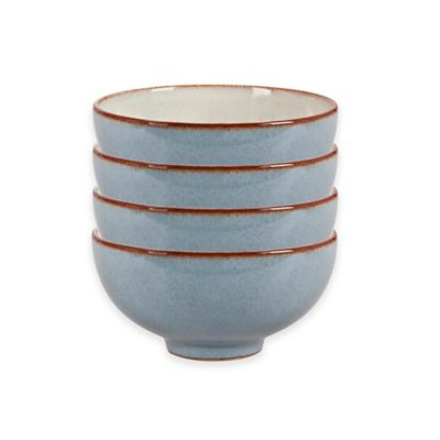 Denby Heritage Terrace Rice Bowls in Grey (Set of 4)