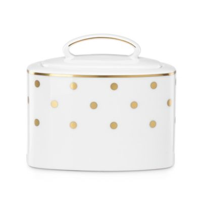 kate spade new york Larabee Road™ Gold Covered Sugar Bowl