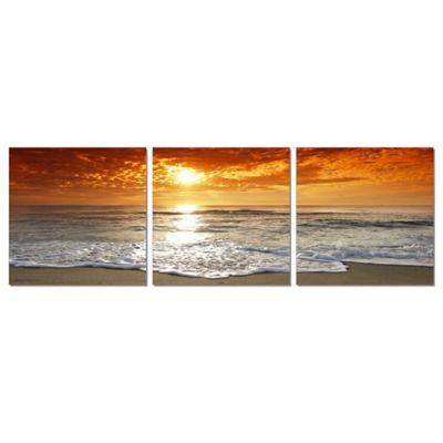 Elementem Photography Corsica Sunset 3-Panel Photographic Triptych Wall Art
