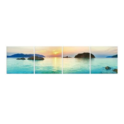 Elementem Photography Islands in Thailand 4-Panel Photographic Wall Art