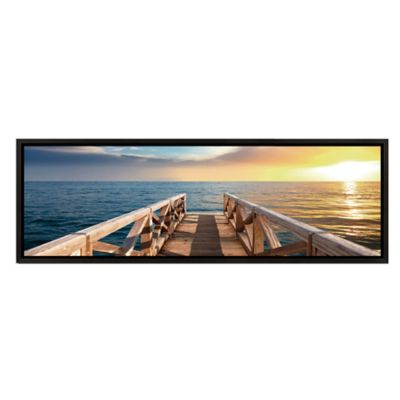 Elementem Photography Sunset Pier Photographic Framed Wall Art