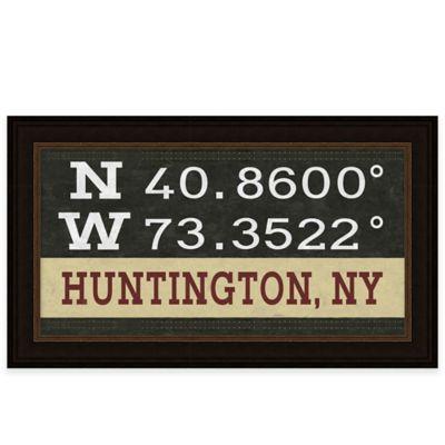 Framed Giclée Huntington, NY Coordinates Print Wall Art