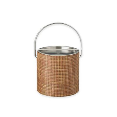 Kraftware™ Woven Sienna Ice Bucket with Metal Bar Lid
