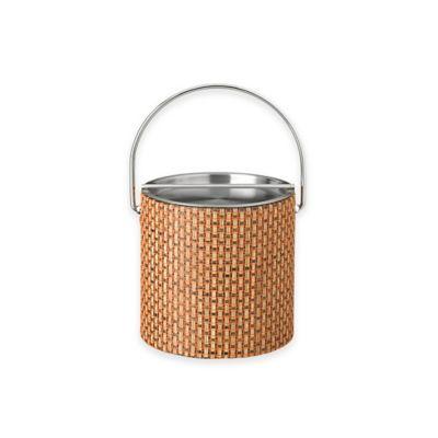 Kraftware™ Woven Topaz Ice Bucket with Metal Bar Lid