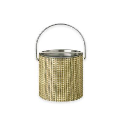 Kraftware™ Woven Verde Ice Bucket with Metal Bar Lid