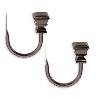 Cambria® Connections Double Window Curtain Holdbacks in Venetian Bronze (Set of 2)