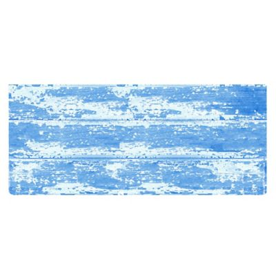 The Softer Side by Weather Guard™ 25-Inch x 60-Inch Barnboard Kitchen Runner in Blue