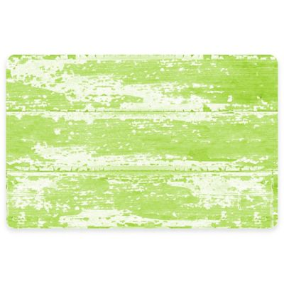 The Softer Side by Weather Guard™ 23-Inch x 36-Inch Barnboard Kitchen Mat in Green