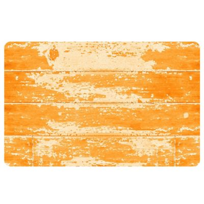 The Softer Side by Weather Guard™ 18-Inch x 27-Inch Barnboard Kitchen Mat in Orange