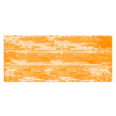 The Softer Side by Weather Guard™ 25-Inch x 60-Inch Barnboard Kitchen Runner in Orange