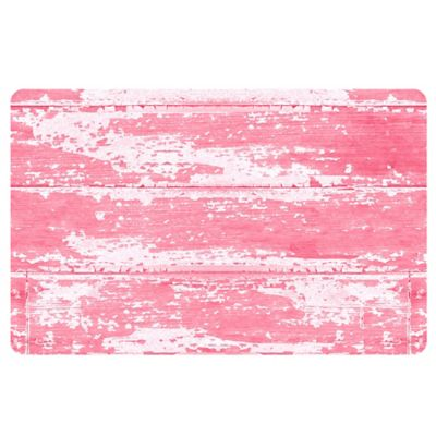 The Softer Side by Weather Guard™ 18-Inch x 27-Inch Barnboard Kitchen Mat in Pink