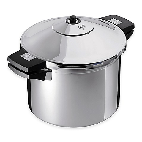 kuhn rikon duromatic 8 qt stainless steel stock pot pressure cooker. Black Bedroom Furniture Sets. Home Design Ideas