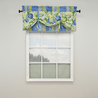 Waverly® Floral Flourish Rod-Pocket Window Valance in Porcelain
