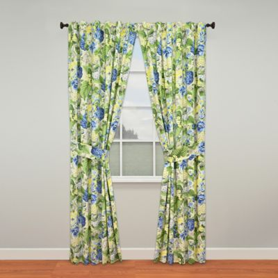 Waverly® Floral Flourish Rod-Pocket 84-Inch Window Curtain Panel Pair in Porcelain