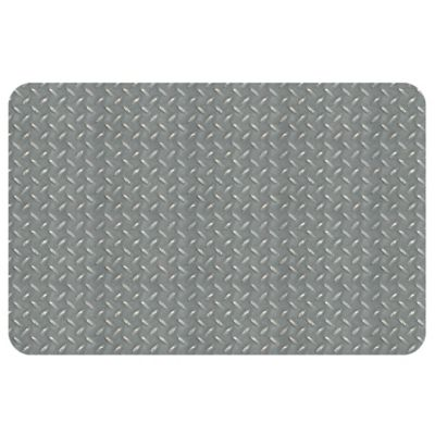 The Softer Side by Weather Guard™ Diamond Plate 23-Inch x 36-Inch Kitchen Mat in Grey