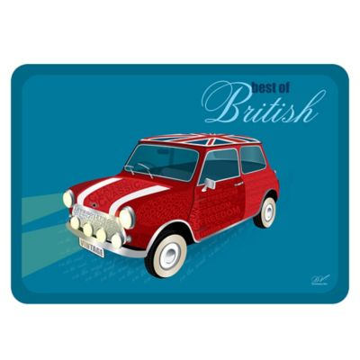 "The Softer Side by Weather Guard™ 18-Inch x 27-Inch ""Best of British"" Mini Kitchen Mat"