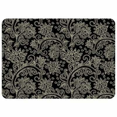 The Softer Side by Weather Guard™ 23-Inch x 36-Inch Paisley Kitchen Mat in Black/White