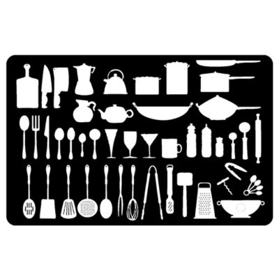 The Softer Side by Weather Guard™ 18-Inch x 27-Inch Kitchenette Kitchen Mat in Black/White