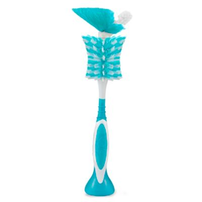 Born Free® Breeze 2-in-1 Bottle Brush in White/Aqua