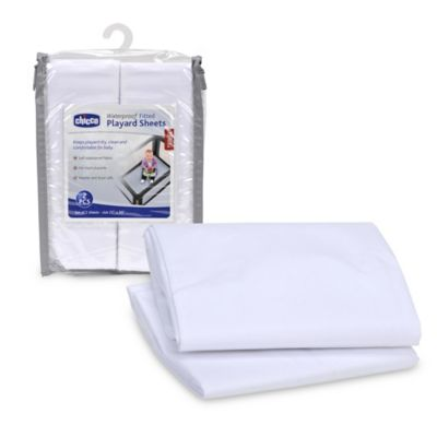2-Pack Playard Sheets in White