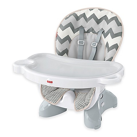 Fisher Price 174 Deluxe Spacesaver High Chair In Grey White