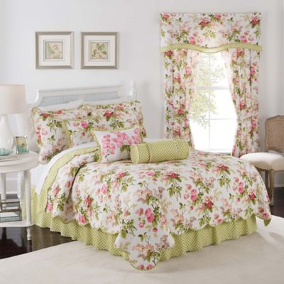 Waverly® Emma's Garden Reversible Twin Quilt Set in Blossom