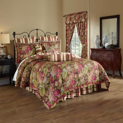 Waverly® Floral Flourish Cordial Reversible 4-Piece Queen Comforter Set