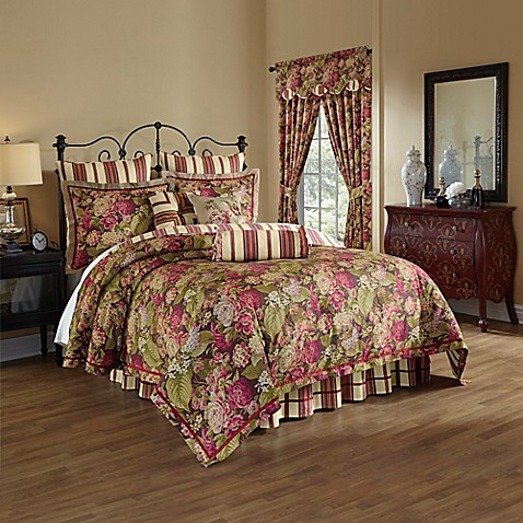 Waverly 174 Floral Flourish Cordial Reversible 4 Piece