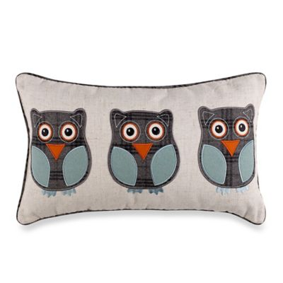 Coo Coo Blue Reversible Throw Pillow