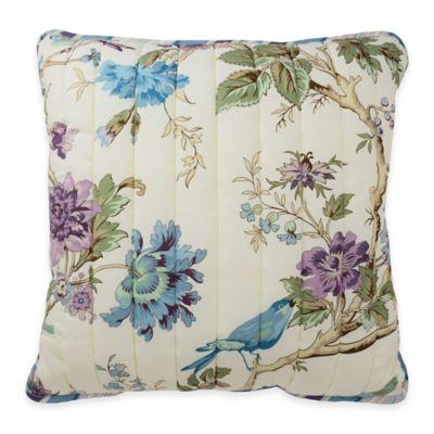 Waverly® Charleston Chirp Larkspur Reversible Square Throw Pillow