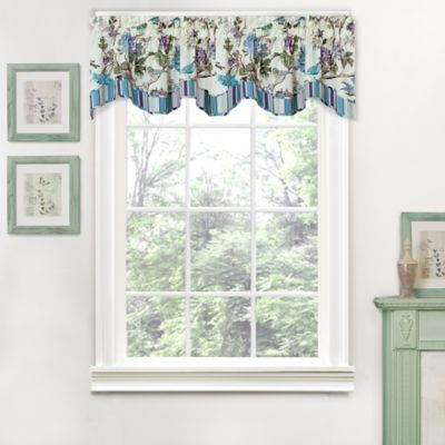 Waverly® Charleston Chirp Larkspur Scalloped Window Valance