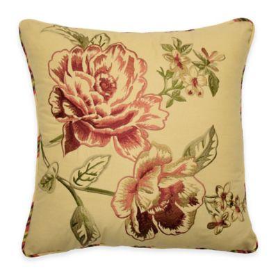 Waverly® Floral Flourish Cordial Square Throw Pillow