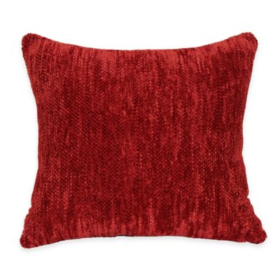Streamers Throw Pillow in Red