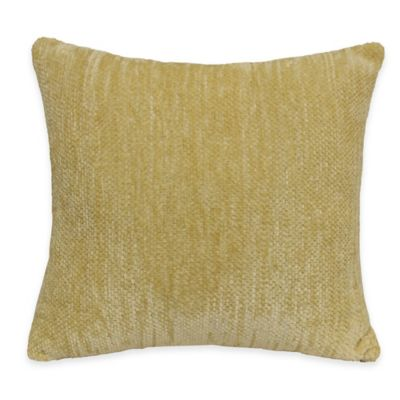 Streamers Throw Pillow in Yellow