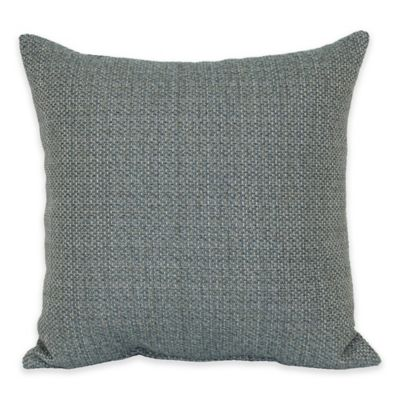 Eades Weave Throw Pillow in Teal