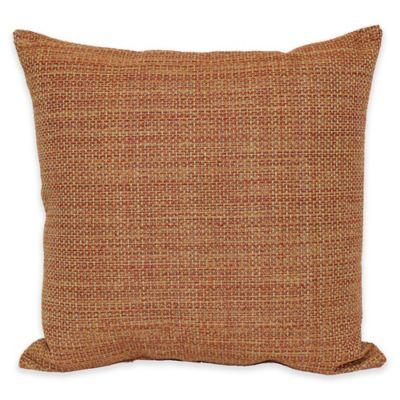 Eades Weave Throw Pillow in Rust