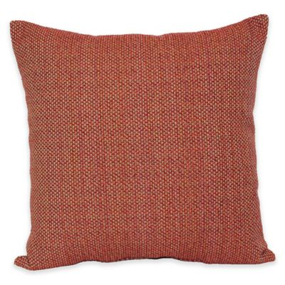 Eades Weave Throw Pillow in Red