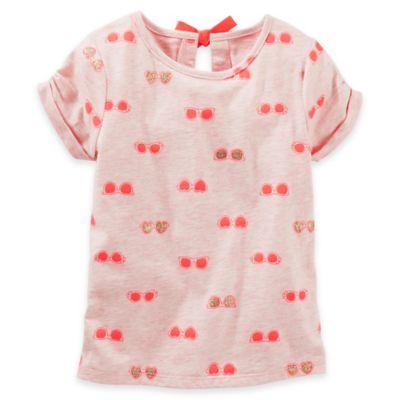 OshKosh B'gosh® Size 2T Sunglasses Print Short Sleeve Top in Pink