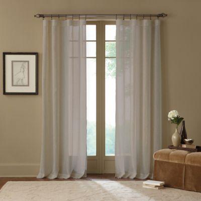 Terra 63-Inch Rod Pocket Sheer Window Curtain Panel in Linen