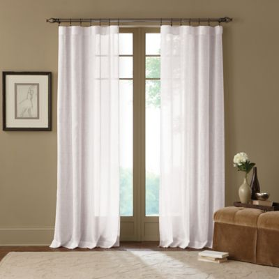 White and Gray Sheer Curtains
