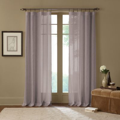 Terra Natural 108-Inch Sheer Rod Pocket Window Curtain Panel
