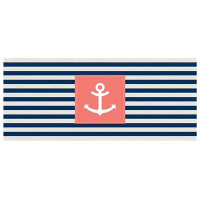 The Softer Side by Weather Guard™ 25-Inch x 60-Inch Anchor Stripe Kitchen Runner