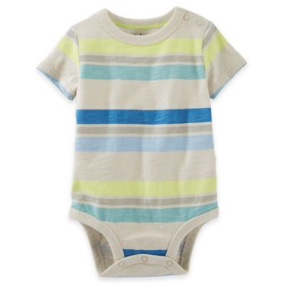Size 6M Striped Bodysuit in Blue/Yellow