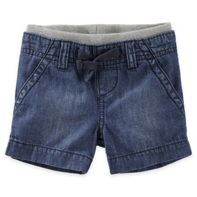 OshKosh B'gosh® Size 6M Pull-On Denim Shorts in Chambray