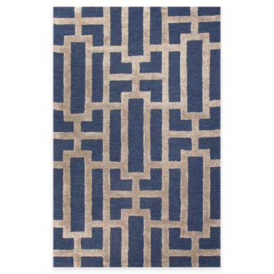 Jaipur City Dallas 3-Foot 6-Inch x 5-Foot 6-Inch Area Rug in Blue/Taupe
