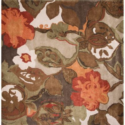 Floral Square Area Rugs
